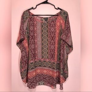 Tops - Colorful Multi-Patterned Top